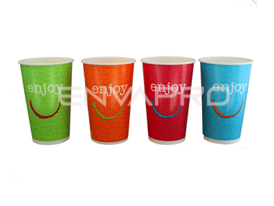 VASO CARTÓN BEBIDA FRÍA ENJOY 16oz 540ml