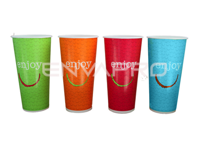 VASO CARTÓN BEBIDA FRÍA ENJOY 22oz 680ml