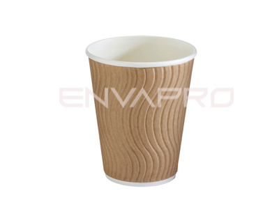 VASO CARTÓN DOBLE PARED ONDULADA KRAFT 8oz 237ml