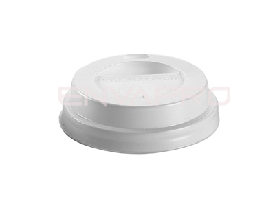 TAPA TRAVEL PLÁSTICO BLANCA PARA VASO  4 oz. 126ML