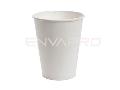 VASO CARTÓN PARED GRUESA BLANCO 12/14 oz BOCA DE 9 cmØ