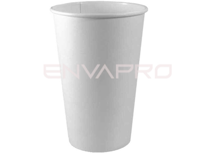 VASO CARTÓN PARED GRUESA BLANCO 20oz 591 ml.
