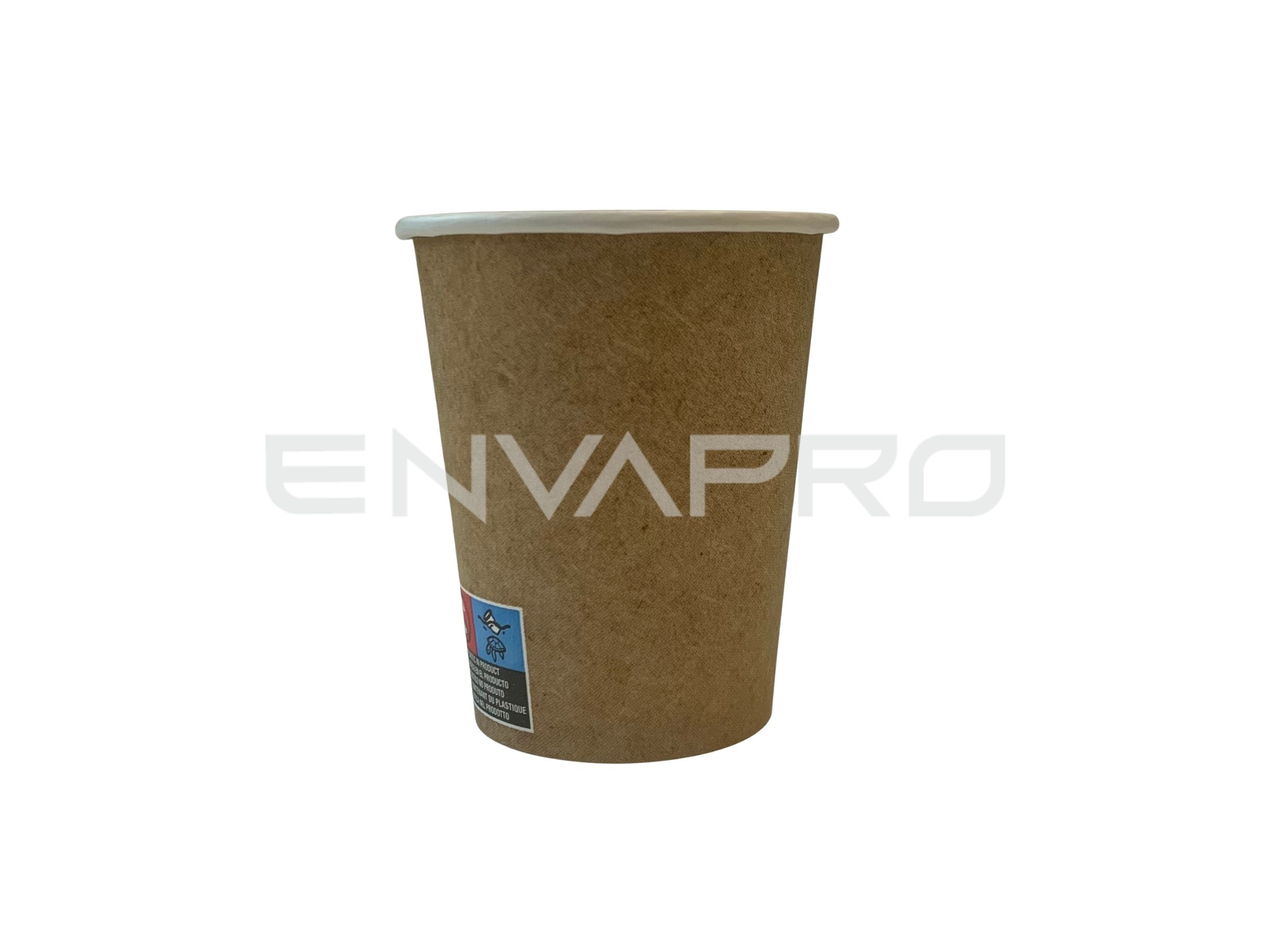 VASO CARTÓN PARED GRUESA EFECTO KRAFT 8oz 237ml