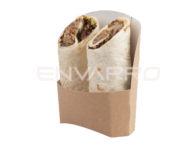 ENVASE WRAP CARTÓN KRAFT COMPOSTABLE 110 x 40 x 40/115mm
