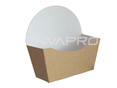 ENVASE BAGEL CARTÓN KRAFT COMPOSTABLE 120 x 46 x 60/120mm