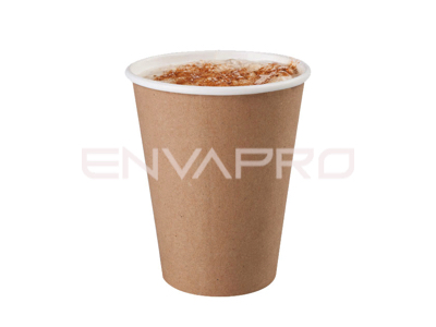 VASO CARTÓN PARED GRUESA KRAFT 12oz 355ml COMPOSTABLE