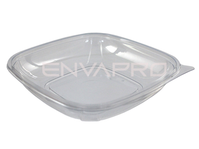 ENSALADERA CUADRADA PET TRANSPARENTE 25oz 750ml