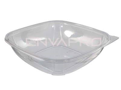 ENSALADERA CUADRADA PET TRANSPARENTE 34oz 1000ml