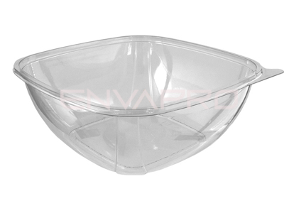 ENSALADERA CUADRADA PET TRANSPARENTE 50oz 1500ml