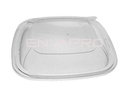TAPA PLA COMPOSTABLE ENSALADERA VERDE CUADRADA BIODEGRADABLE