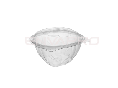 BOWL ENSALADERA PET TAPA BISAGRA 08oz 250ml 10x10x6.9 cm