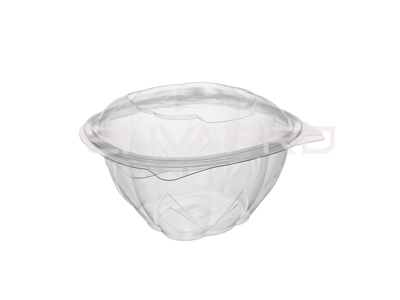 BOWL ENSALADERA PET TAPA BISAGRA 13oz 375ml 11x11x7,8cm