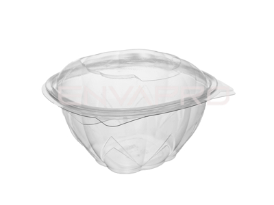 BOWL ENSALADERA PET TAPA BISAGRA 17oz 500ml 12.4x12.4x8 cm