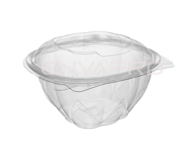 BOWL ENSALADERA PET TAPA BISAGRA 25oz 750ml 13.7x13.7x9cm