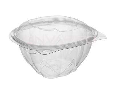BOWL ENSALADERA PET TAPA BISAGRA 34oz 1000ml 15.1 x 15.1 x 9.6cm