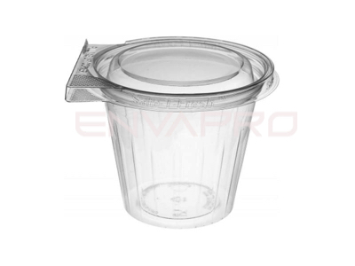 VASO PET TAPA PLANA INVIOLABLE 12oz 350ml