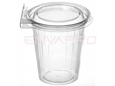 VASO PET TAPA PLANA INVIOLABLE 16oz 500ml
