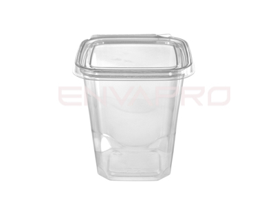 ENVASE CUADRADO TAPA BISAGRA INVIOLABLE 32oz 950 ML
