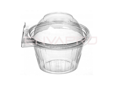 VASO PET TAPA CÚPULA INVIOLABLE 8oz 250ml